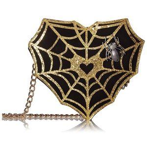 Handbags - NEW Betsey Johnson spider web heart handbag